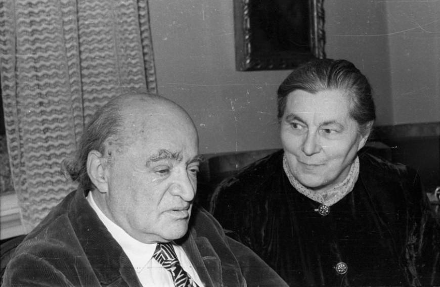 Füst Milán feleségével 1963-ban / Fotó: Fortepan / Hunyady József